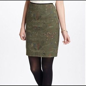 EUC Meadow Rue Anthropologie embroidered  skirt, 4
